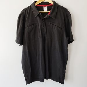 The North Face men's black polo with front pockets